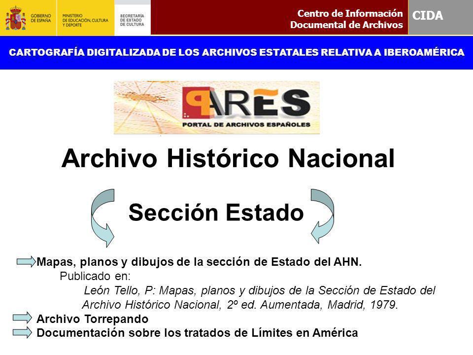 Sección Estado CIDA Archivo Histórico Nacional