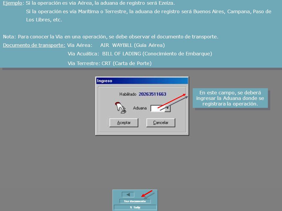 Documento de transporte: Vía Aérea: AIR WAYBiLL (Guía Aérea)