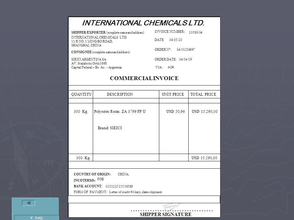 INTERNATIONAL CHEMICALS LTD.