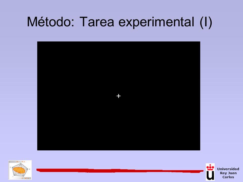 Método: Tarea experimental (I)