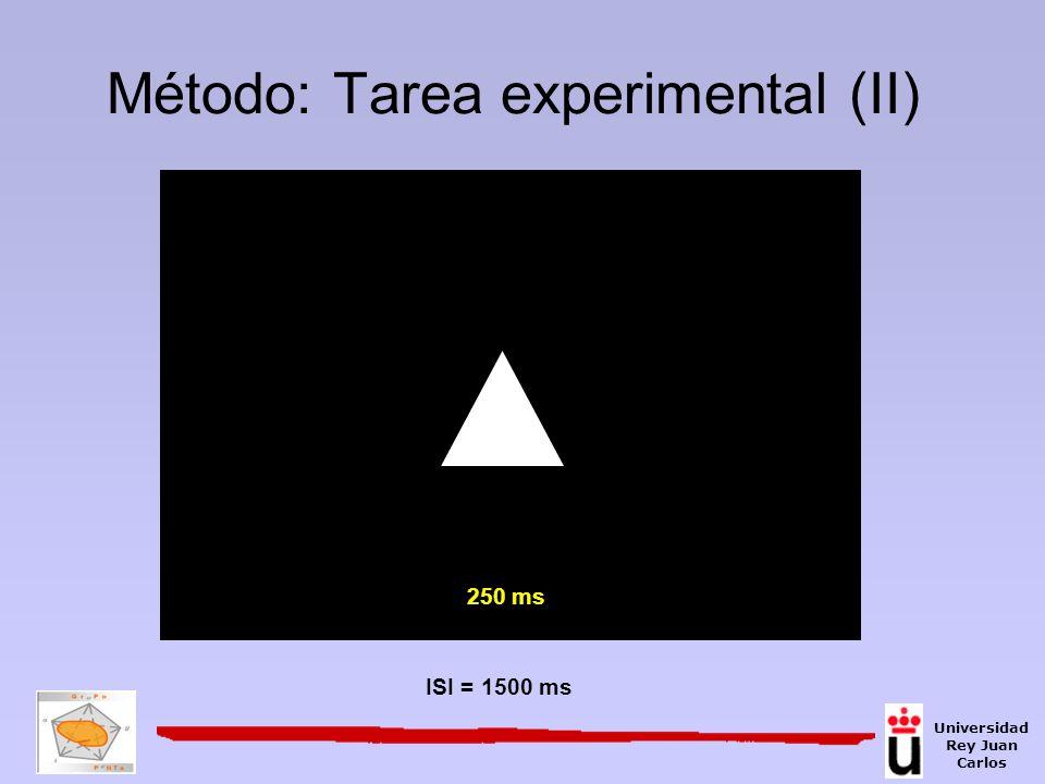 Método: Tarea experimental (II)