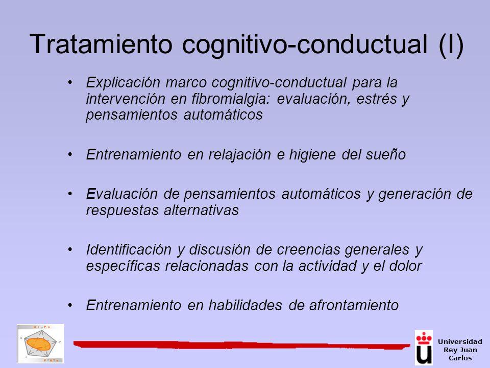 Tratamiento cognitivo-conductual (I)