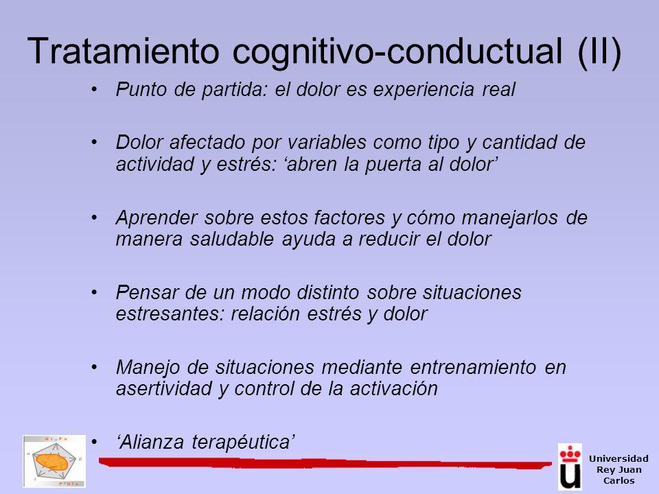 Tratamiento cognitivo-conductual (II)