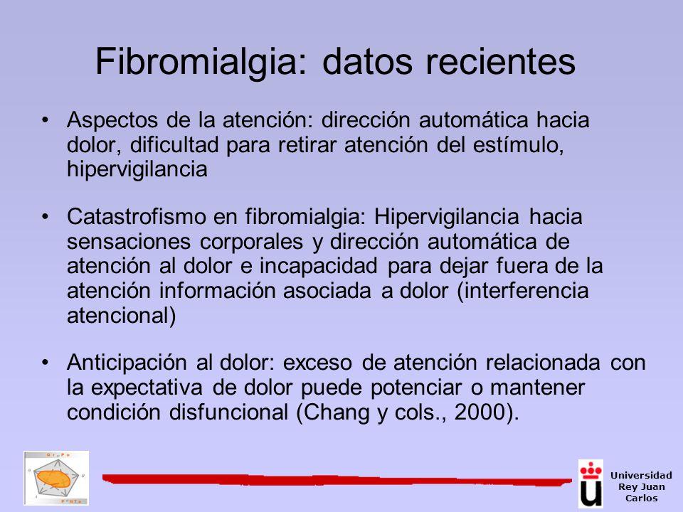 Fibromialgia: datos recientes