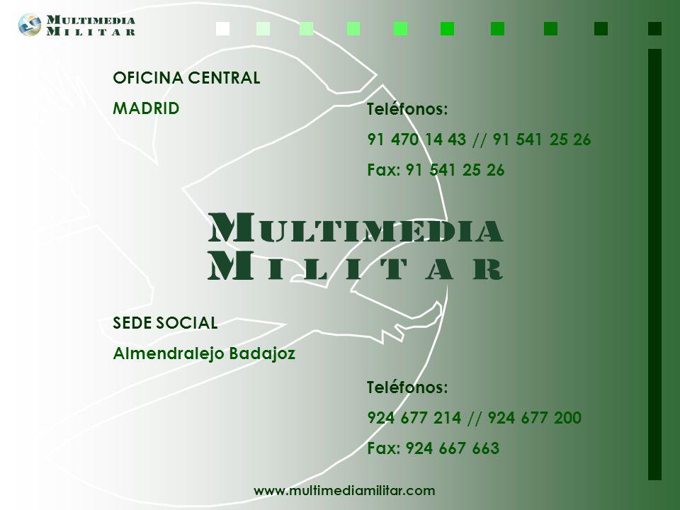 OFICINA CENTRAL MADRID. Teléfonos: 91 470 14 43 // 91 541 25 26. Fax: 91 541 25 26. SEDE SOCIAL.