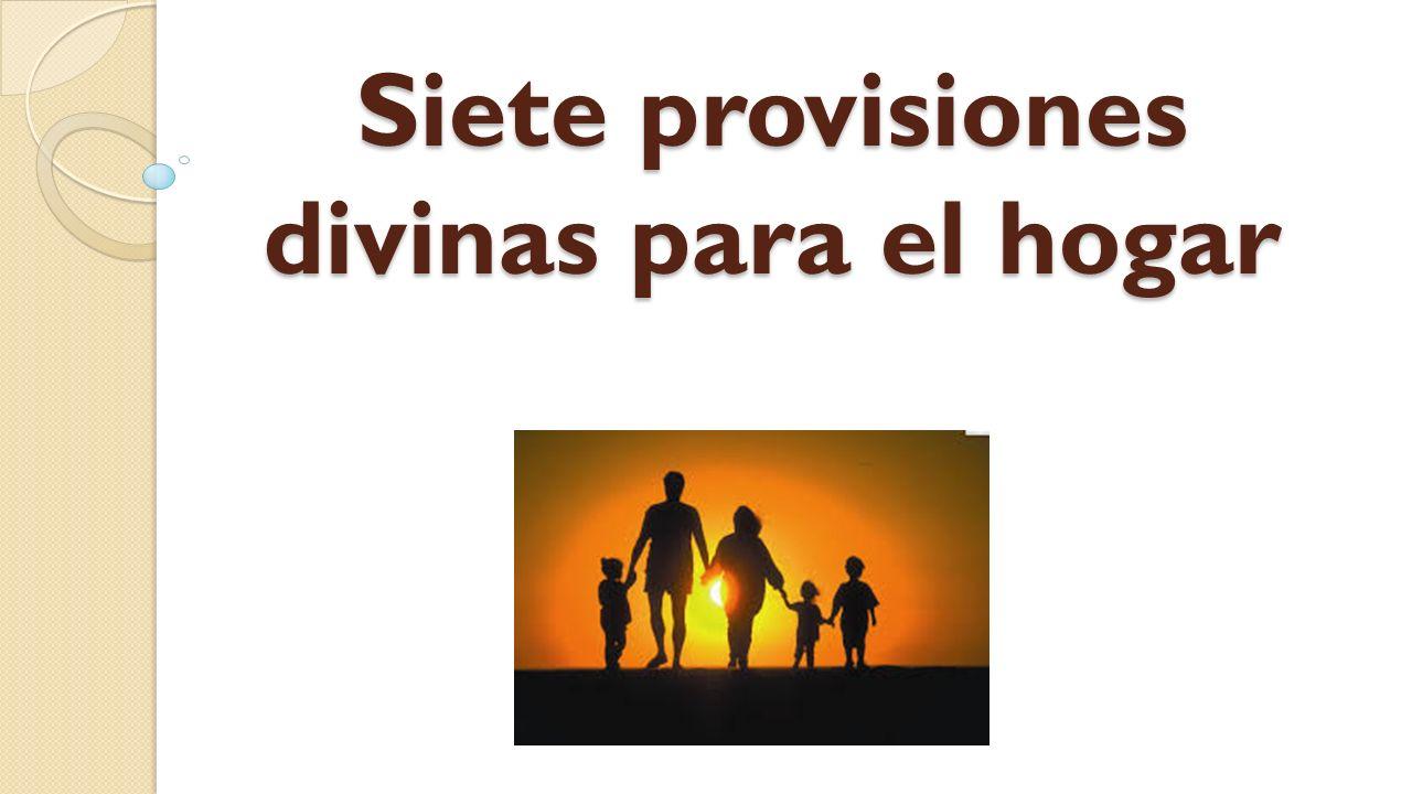 Siete provisiones divinas para el hogar ppt descargar for Puertas insonorizadas para el hogar
