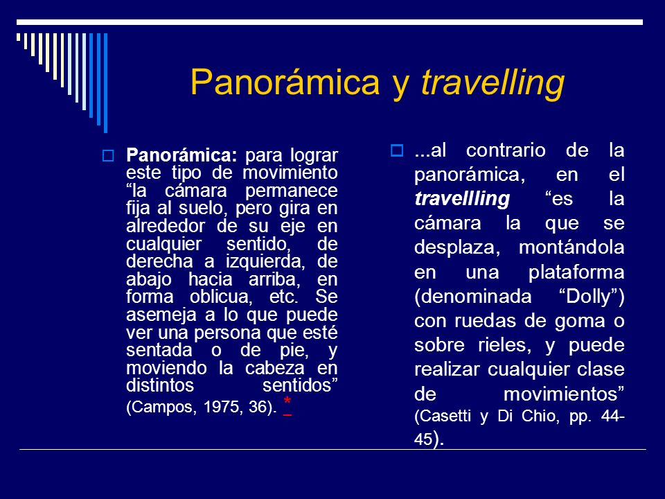 Panorámica y travelling