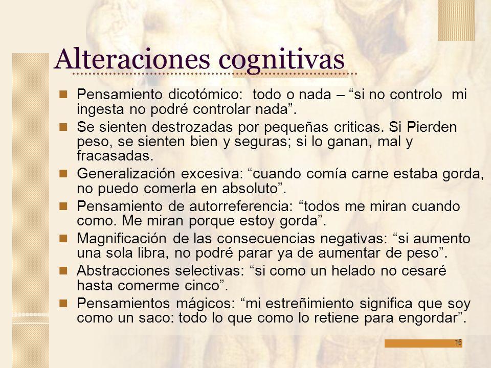 Alteraciones cognitivas