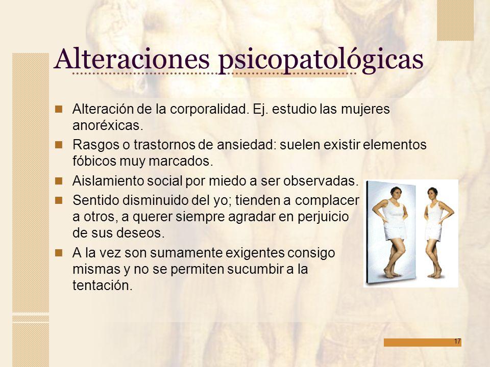 Alteraciones psicopatológicas