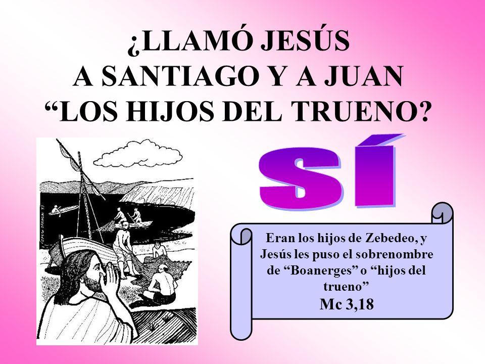 ¿LLAMÓ JESÚS A SANTIAGO Y A JUAN LOS HIJOS DEL TRUENO