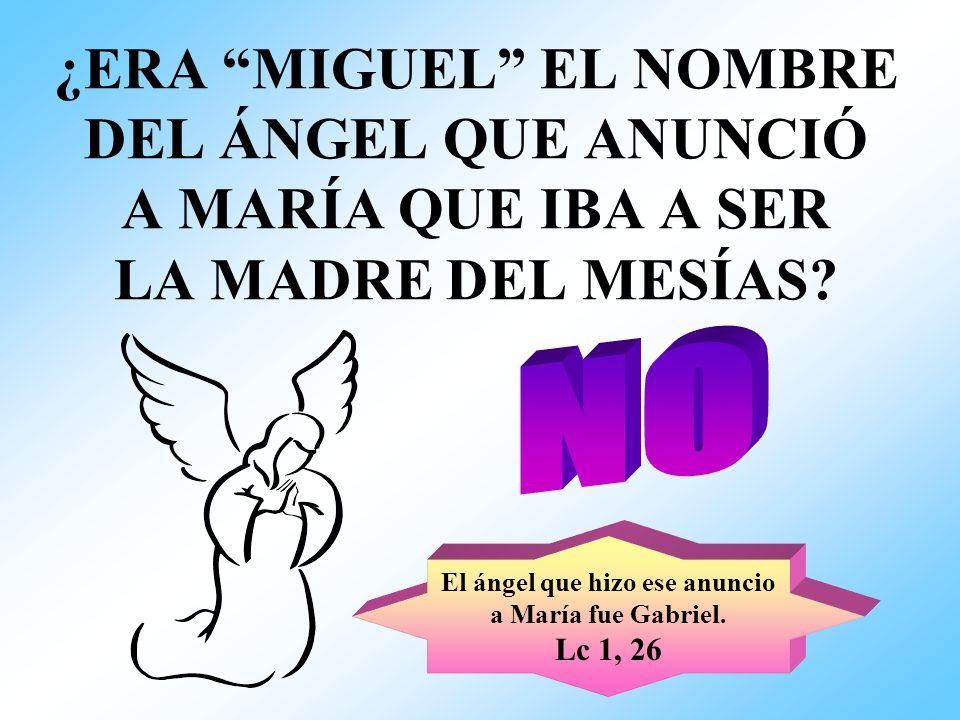 El ángel que hizo ese anuncio