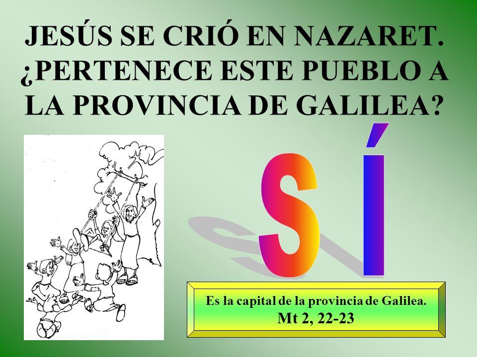 Es la capital de la provincia de Galilea.