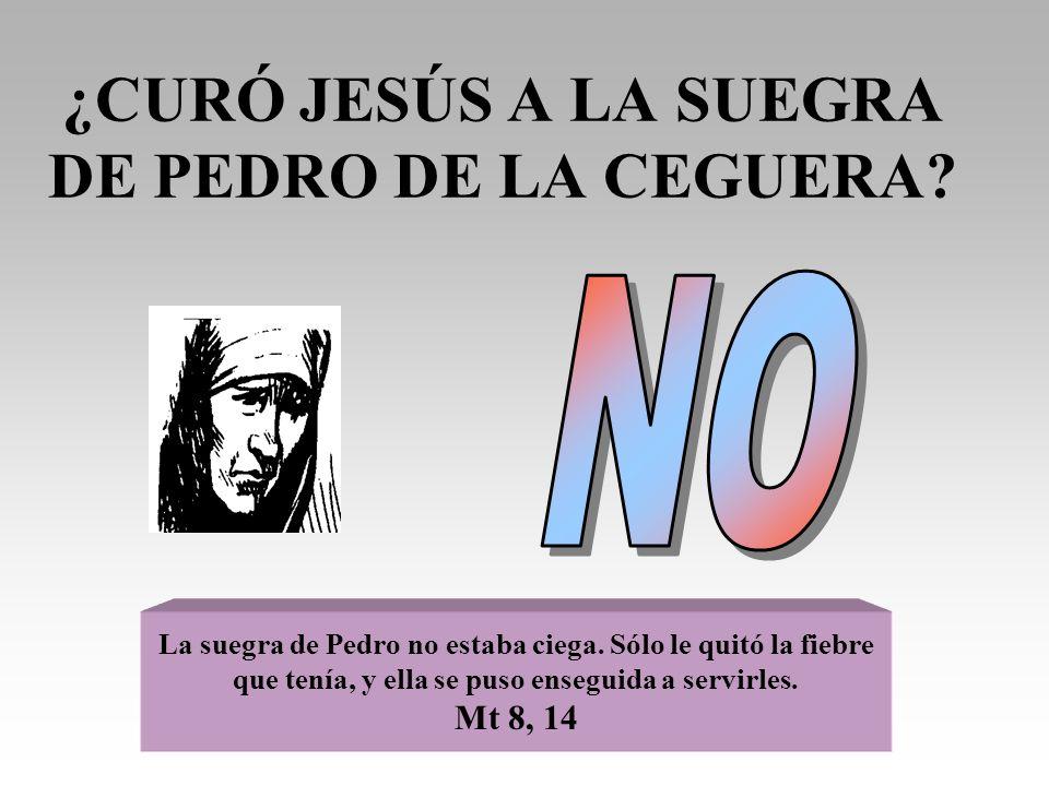 ¿CURÓ JESÚS A LA SUEGRA DE PEDRO DE LA CEGUERA