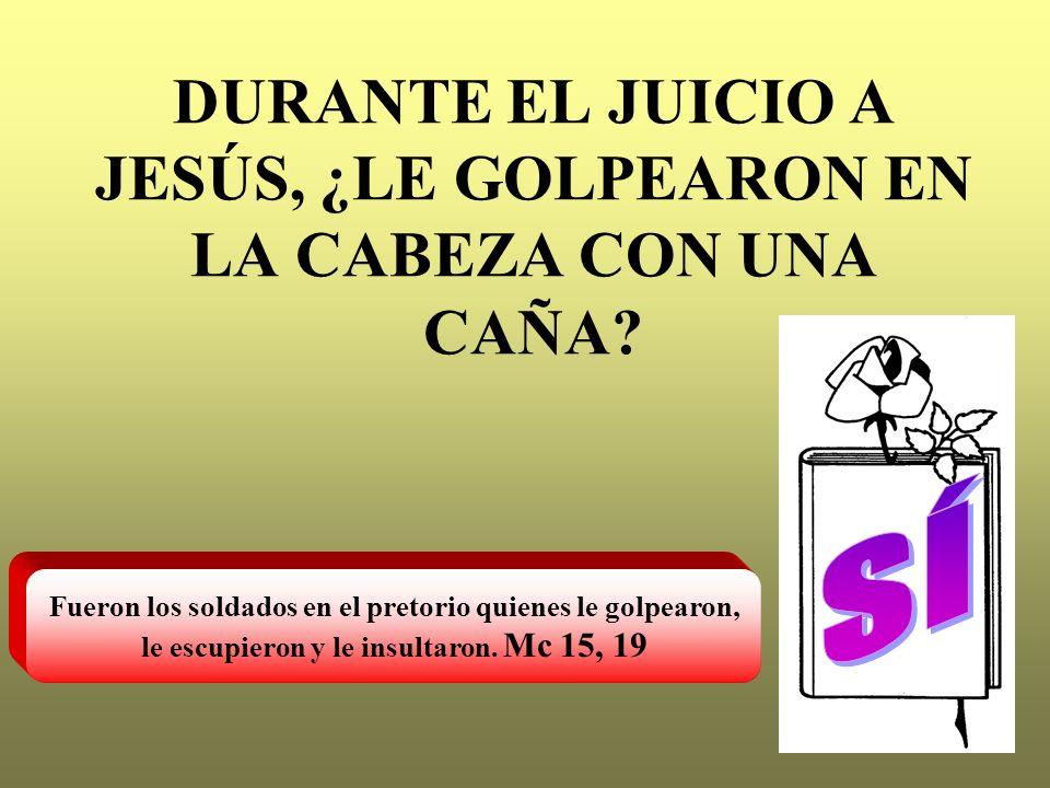 DURANTE EL JUICIO A JESÚS, ¿LE GOLPEARON EN LA CABEZA CON UNA CAÑA