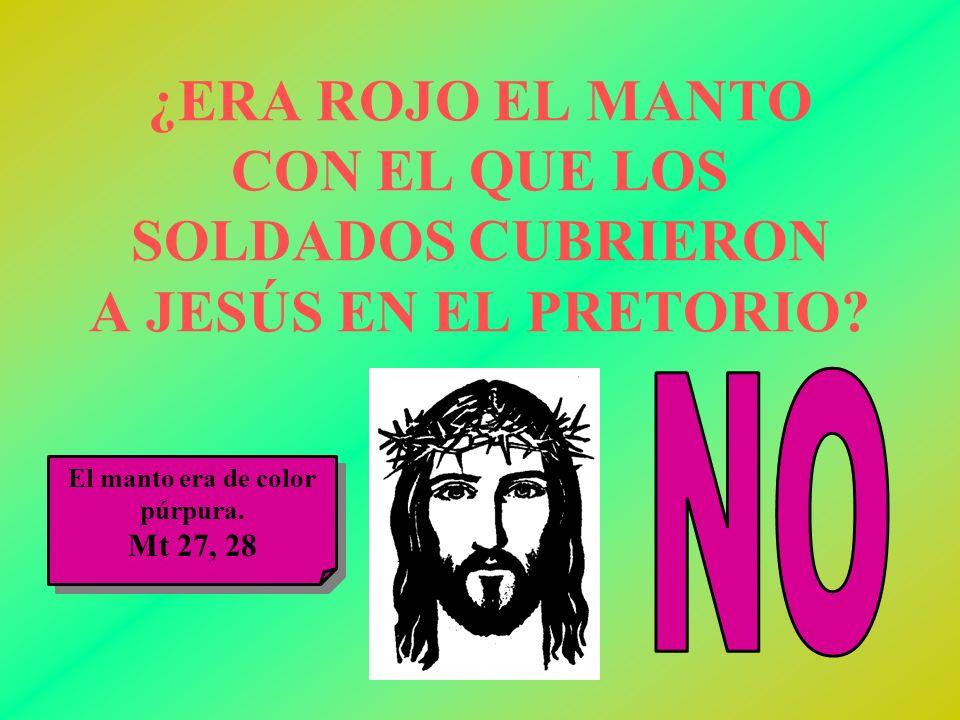 ¿ERA ROJO EL MANTO CON EL QUE LOS SOLDADOS CUBRIERON A JESÚS EN EL PRETORIO
