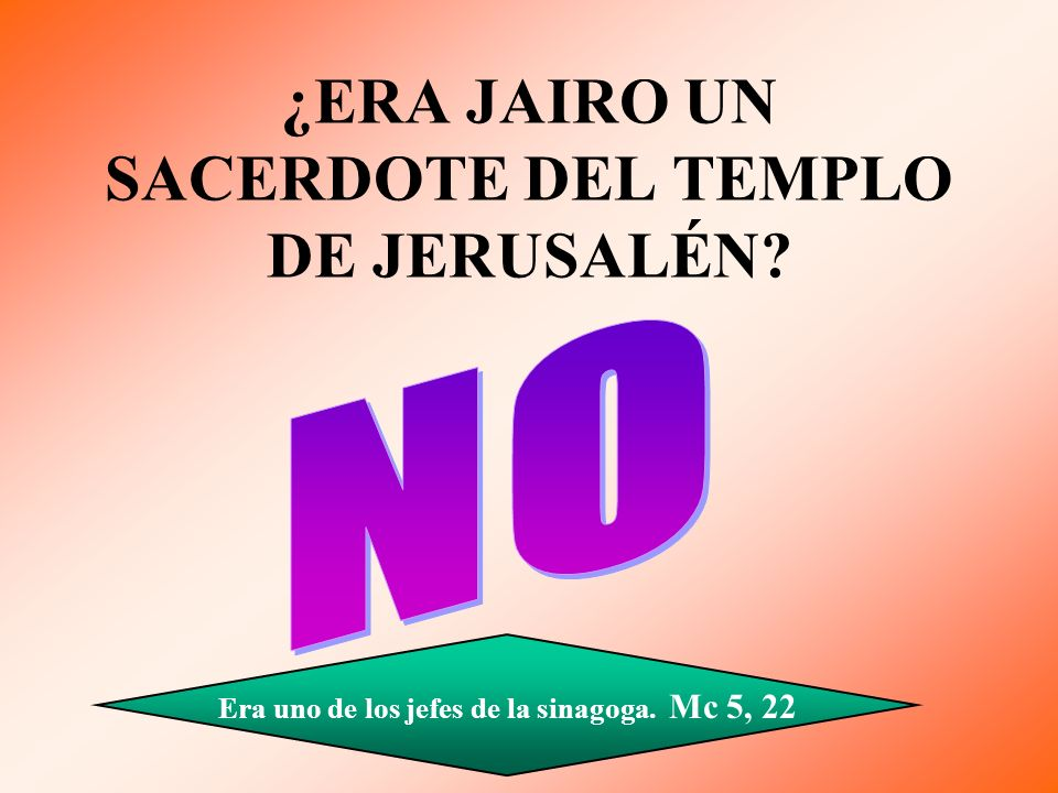 ¿ERA JAIRO UN SACERDOTE DEL TEMPLO DE JERUSALÉN