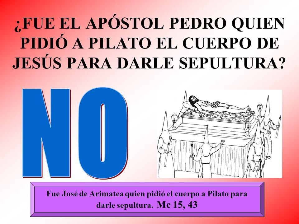 Fue José de Arimatea quien pidió el cuerpo a Pilato para