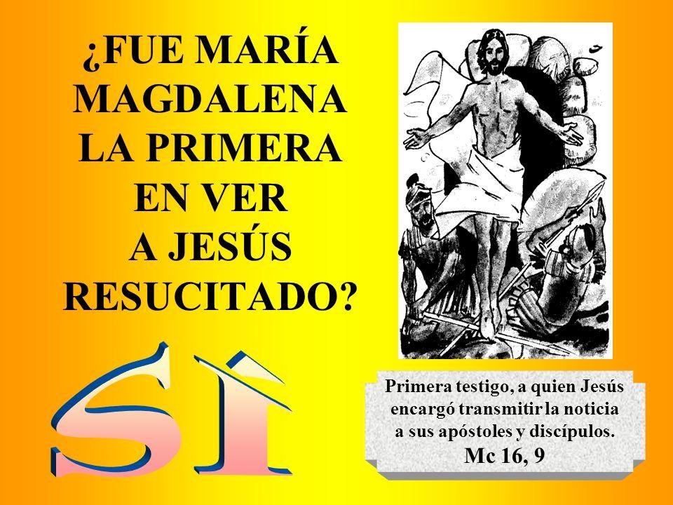 ¿FUE MARÍA MAGDALENA LA PRIMERA EN VER A JESÚS RESUCITADO