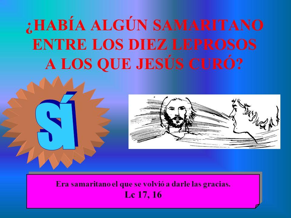 ¿HABÍA ALGÚN SAMARITANO ENTRE LOS DIEZ LEPROSOS A LOS QUE JESÚS CURÓ