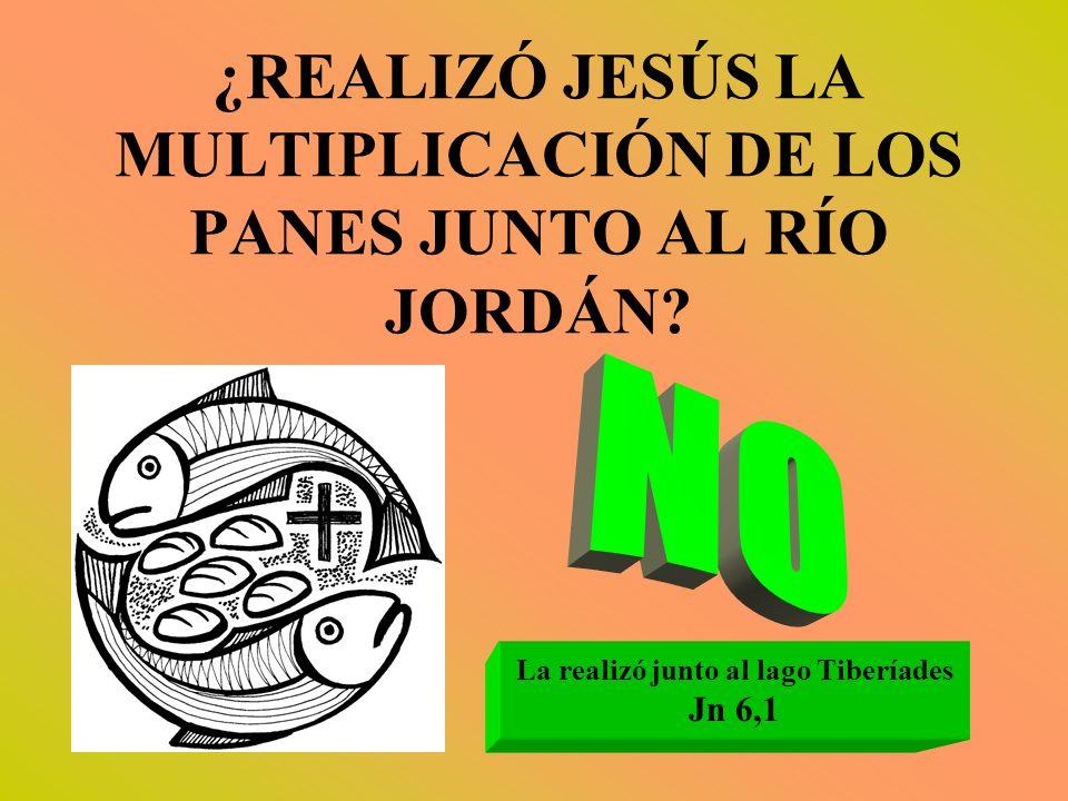 ¿REALIZÓ JESÚS LA MULTIPLICACIÓN DE LOS PANES JUNTO AL RÍO JORDÁN