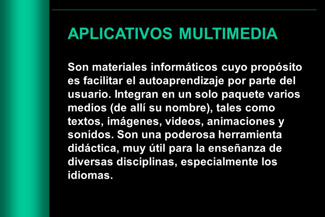 APLICATIVOS MULTIMEDIA