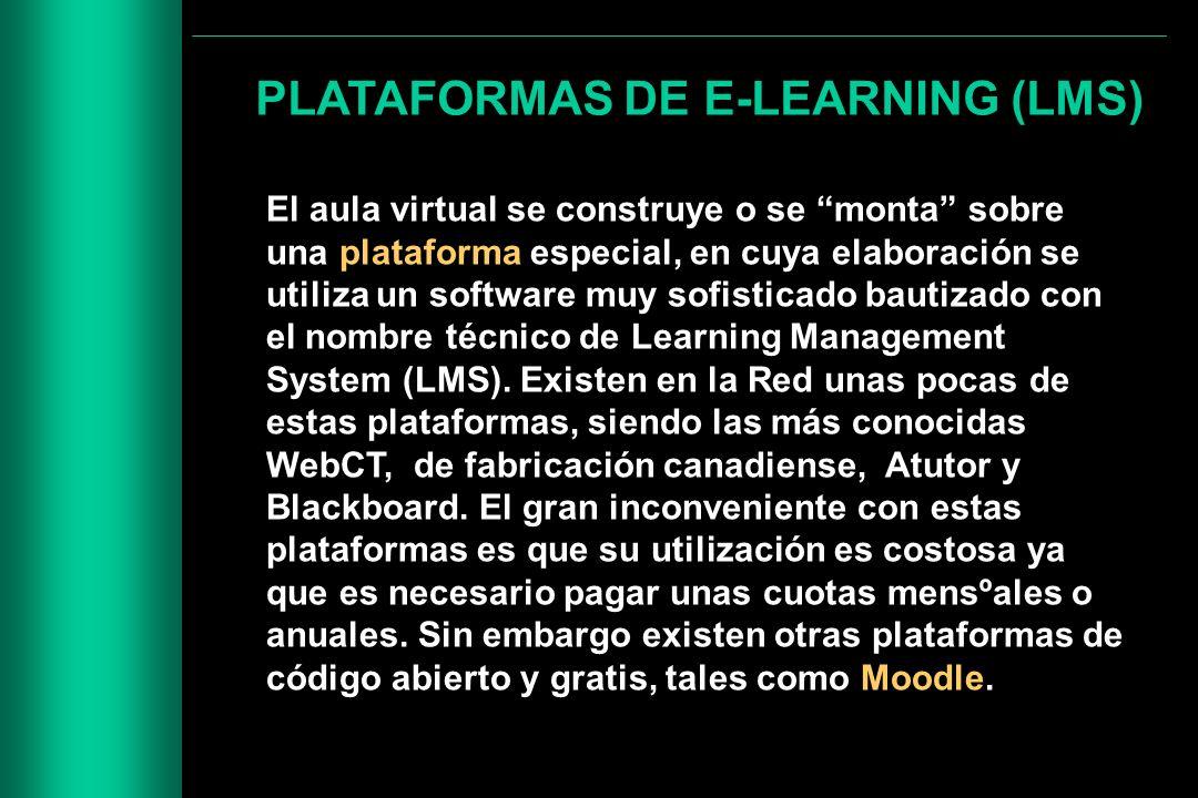 PLATAFORMAS DE E-LEARNING (LMS)