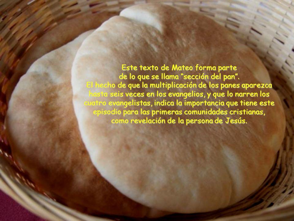 Este texto de Mateo forma parte de lo que se llama sección del pan .