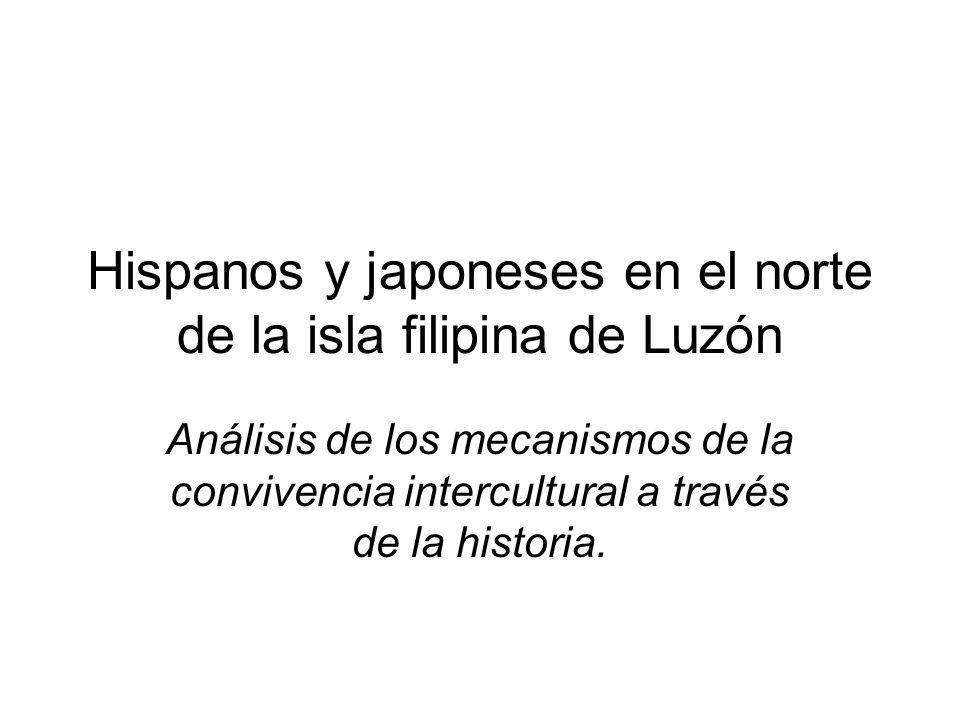 Hispanos y japoneses en el norte de la isla filipina de Luzón