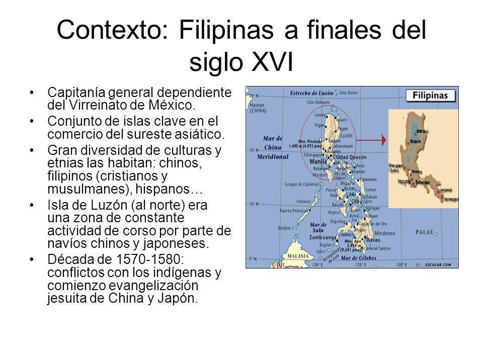 Contexto: Filipinas a finales del siglo XVI