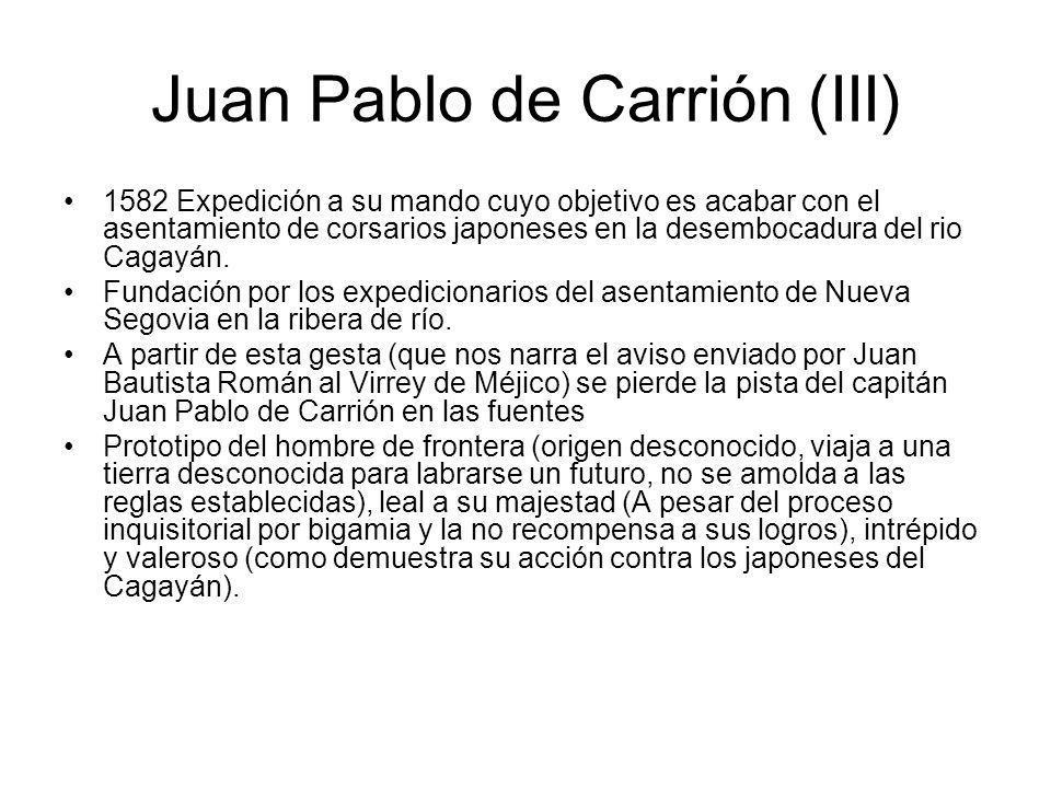 Juan Pablo de Carrión (III)