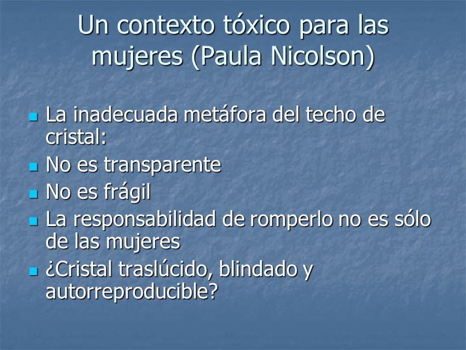Un contexto tóxico para las mujeres (Paula Nicolson)