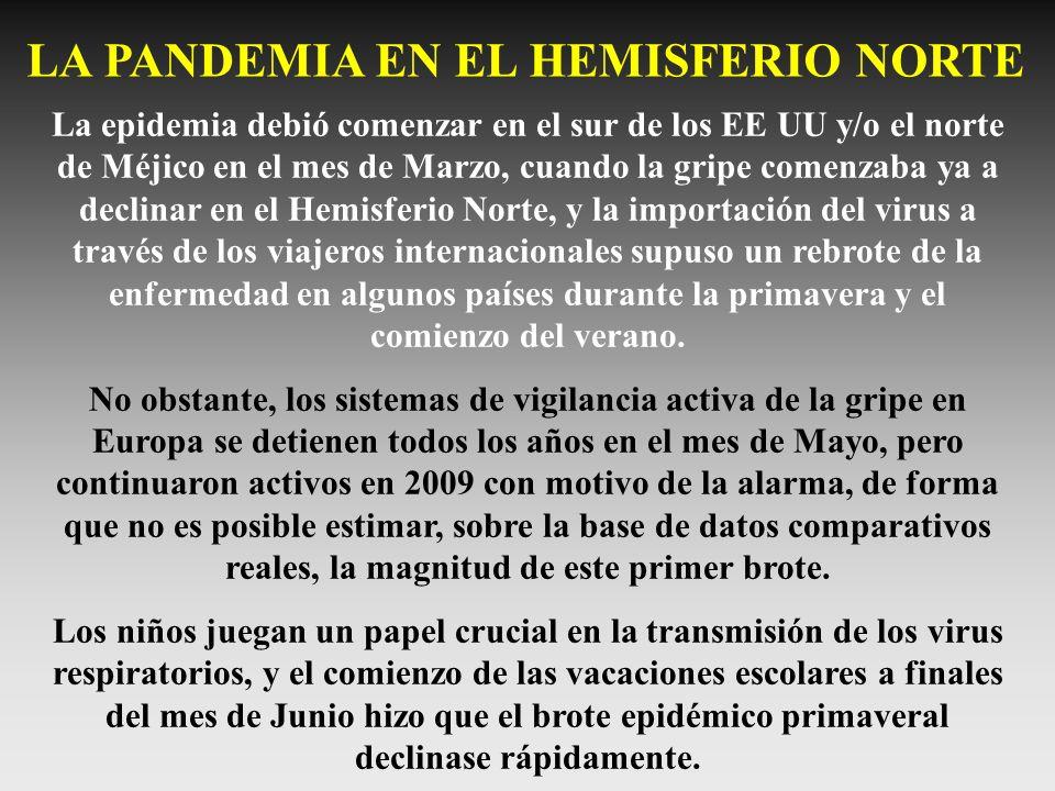 LA PANDEMIA EN EL HEMISFERIO NORTE