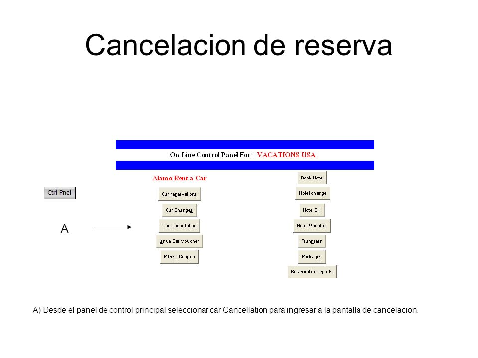 Cancelacion de reserva