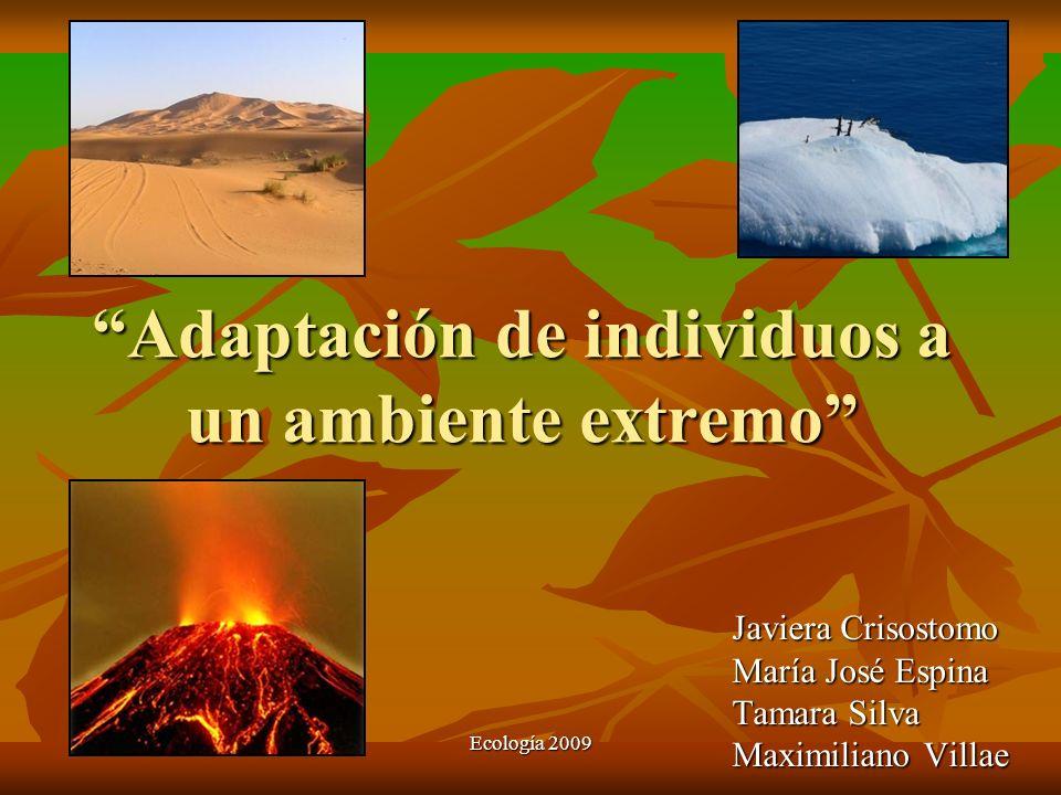 Adaptación de individuos a un ambiente extremo