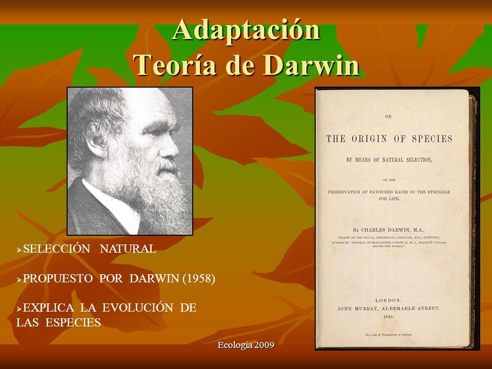 Adaptación Teoría de Darwin