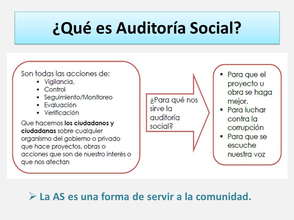 ¿Qué es Auditoría Social