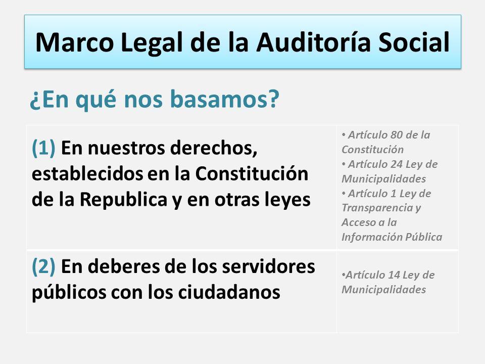 Marco Legal de la Auditoría Social