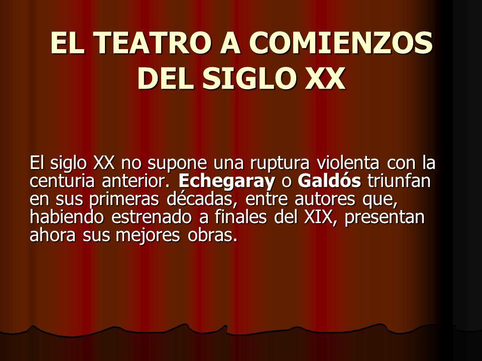 EL TEATRO A COMIENZOS DEL SIGLO XX