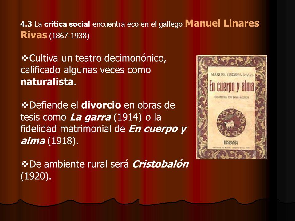 De ambiente rural será Cristobalón (1920).