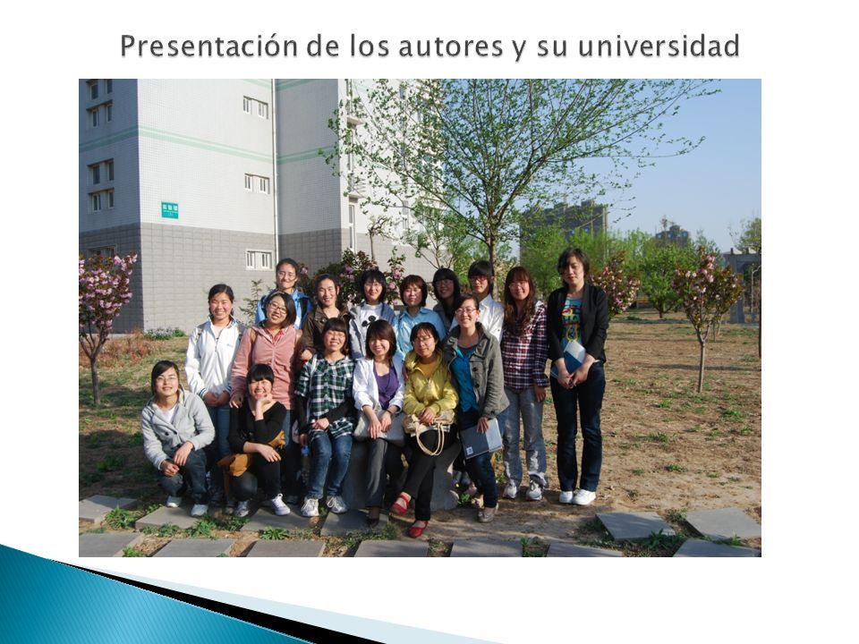 Presentación de los autores y su universidad