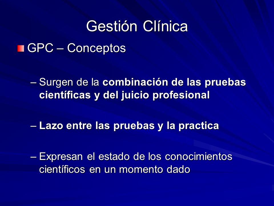 Gestión Clínica GPC – Conceptos