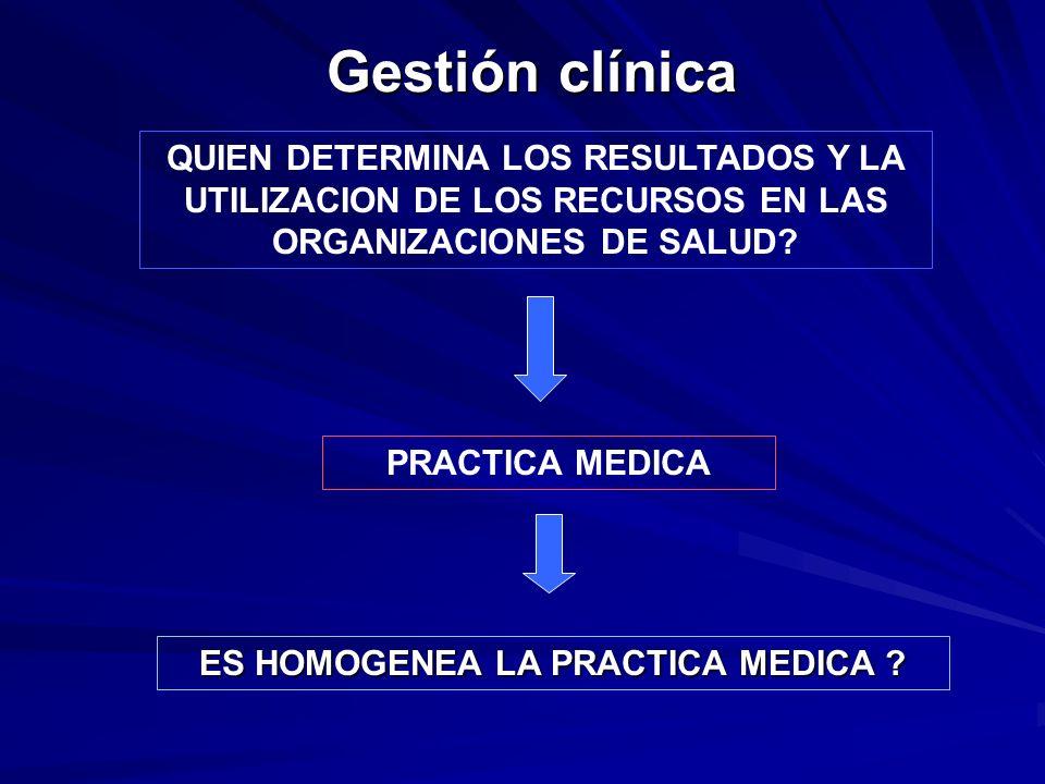 ES HOMOGENEA LA PRACTICA MEDICA