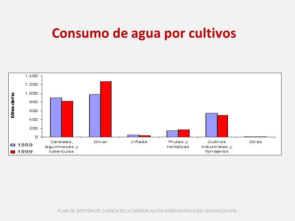 Consumo de agua por cultivos