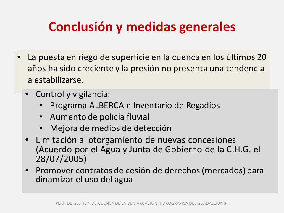 Conclusión y medidas generales
