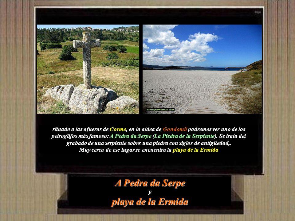A Pedra da Serpe y playa de la Ermida