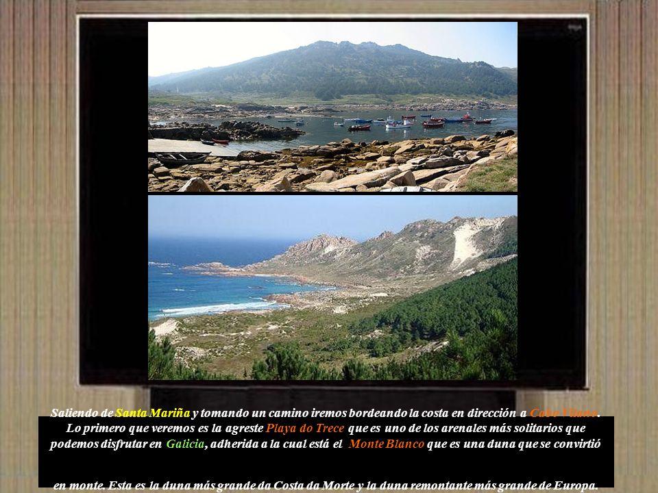 Saliendo de Santa Mariña y tomando un camino iremos bordeando la costa en dirección a Cabo Vilano.