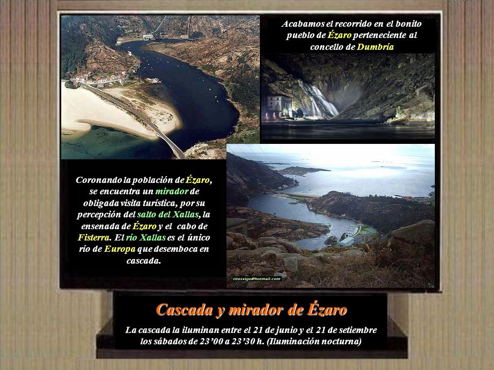 Cascada y mirador de Ézaro
