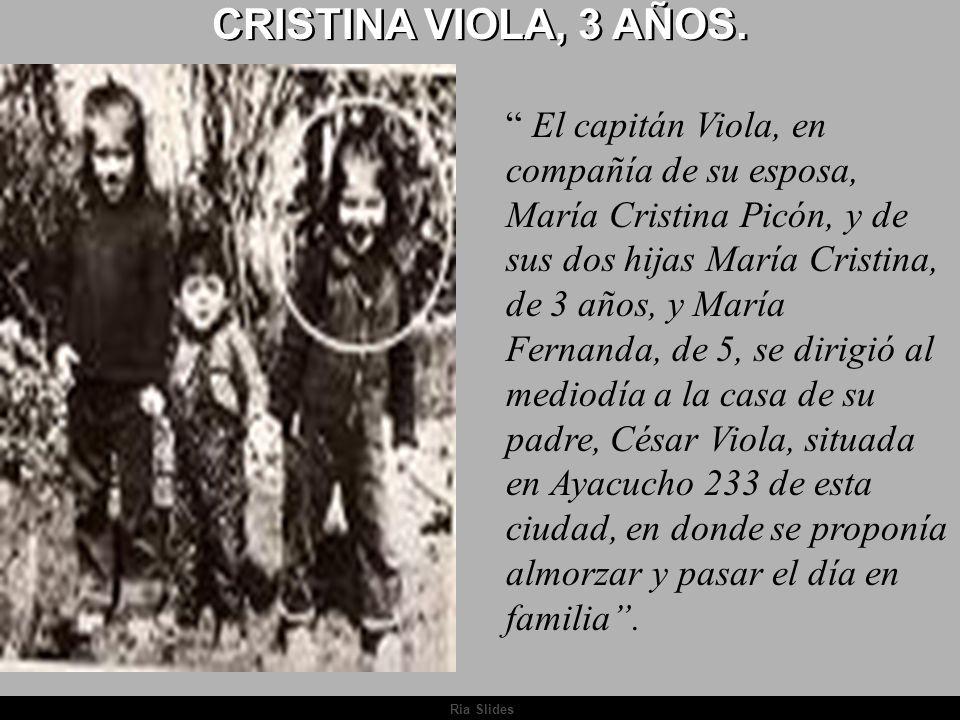 CRISTINA VIOLA, 3 AÑOS.