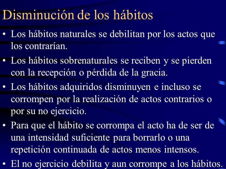 Disminución de los hábitos