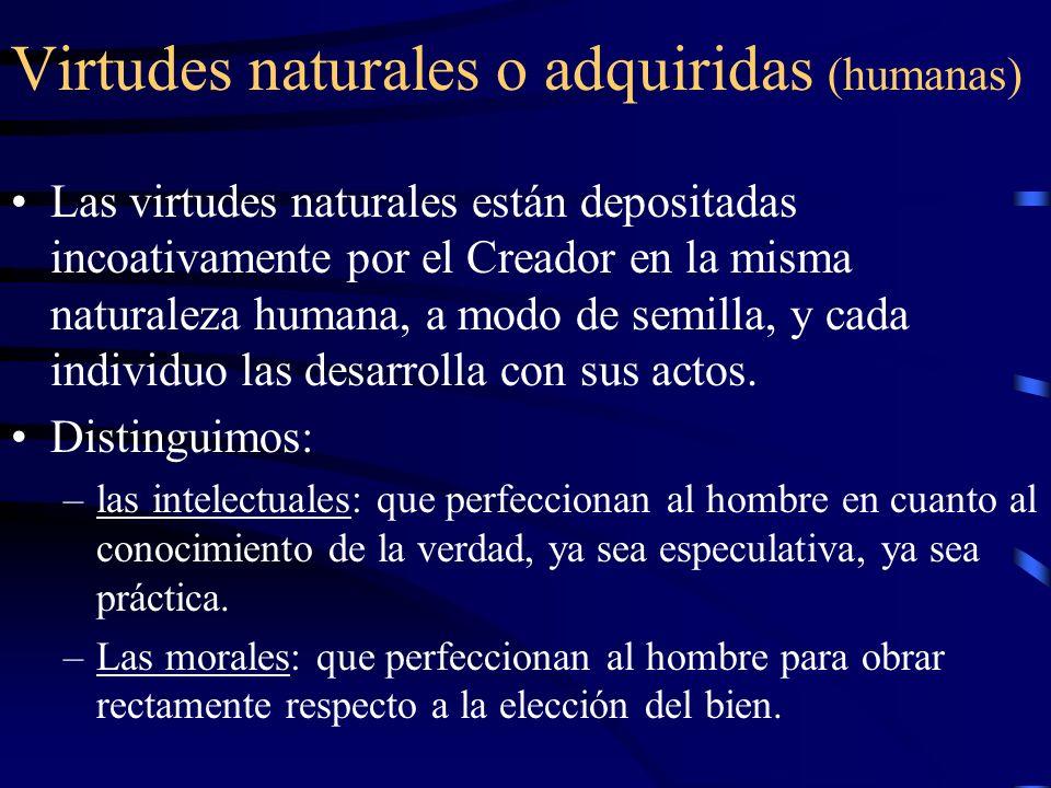 Virtudes naturales o adquiridas (humanas)